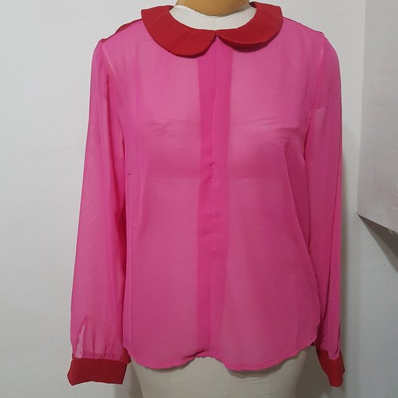 Pink and Red Blouse
